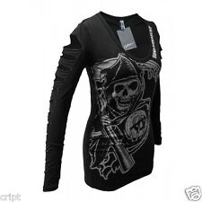 AUTHENTIC SONS OF ANARCHY SOA REAPER WOMENS JUNIOR OFFICIALLY LICENSED T SHIRT