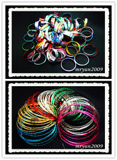Free HOT Wholesale Lots Mixed Colors Aluminium Rings and bracelets Holiday gifts