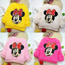 Lovely Minnie Baby Girls Winter Sweet Knit Sweater Pullover Coat Cardigan 0~4Y