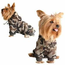 Pet Dog Warm Brown Camo Hoodie Sweatshirt Sweater Hoody Clothes