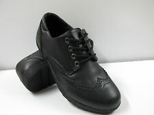 WOMENS LADIES FLAT LACE UP SMART VINTAGE OXFORD BROGUES PUMPS SHOES SIZE