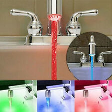 Hot 3 Color Sensor LED Light Water Faucet Tap Temperature For kitchen/Bathroom