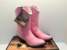 Pink Cowgirl Boots for Girls by Old West- Leather- Western Styling- Children's