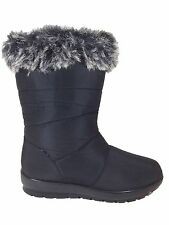 Women Snow Winter Boots Fur lined Rubber Sole Zipper Weather Proof Nevada