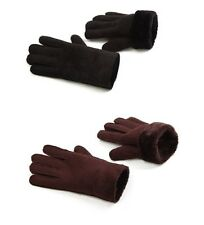 Fleece Lined Thick Warm Light Weight Leather Microfiber Winter Gloves Men Large