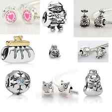 925 Sterling Silver European Bead Charm for Bracelet listing 55 types of charms