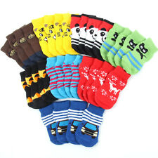 Multi-Color Pet Dog Soft Cotton Sock Anti-Slip Bottom Knit Warm Sock Apparel A60