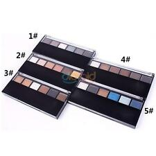 Women Hot Pro 6 Color Makeup Smokey Party Eyeshadow Palette Double Head Brush in