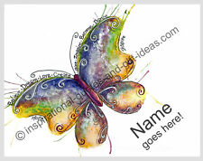 PERSONALIZED NAME BUTTERFLY PICTURES PAINTING DRAWING WALL ART DECOR POSTER