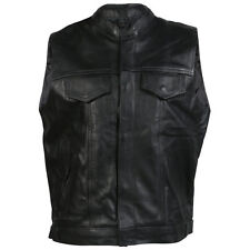 New Mens Top Quality A Grade Leather Sons Of Anarchy Style Waistcoat / Jacket