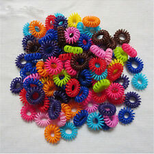 5/10pcs Firm Great Lady Elastic Rubber Hair Ties Band Rope Ponytail Holder DSUK