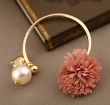 Adorable Bracelets with Flower Bom Bom and Heart Charm in 5 Colors BRCCM0007