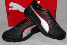 Puma Golf BioDrive Mens Golf Shoes - Black Turbulence Puma Red - New 2015