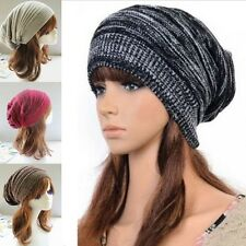 Winter Warm Unisex Women Men Knit Baggy Beanie Hat Fashion Oversized Ski Cap New