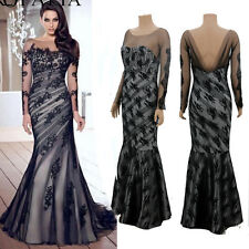 Evening Party Ball Prom Gown Formal Cocktail Bridesmaid Long Lace Mesh Dress Hot