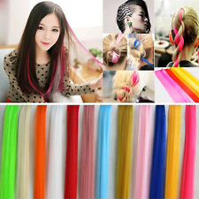 Fashion Women Girl Long Straight Synthetic Clip in on Hair Extensions Extender