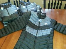Brand New NWT Adidas Original Down Jacket Coat Winter Black Gray Silver M69525