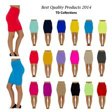 Sexy Women Thin Line Candy Color Stretch Mini Skirt Fitted   Pencil skirt-Multi
