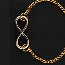 Women Chic Punk Metal Infinite Chain Bangle Girls Vintage Infinity Sign Bracelet