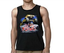 Road Rage 4 wheeler Monster Truck New  Ringer Men Tank Top Black