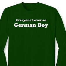 Everyone Loves an German Boy Funny T-shirt Germany Heritage Gift Long Sleeve Tee