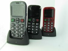 UNLOCKED BIG BUTTON MOBILE CELL PHONE WITH CRADLE SENIORS ELDERLY WITH SOS 76