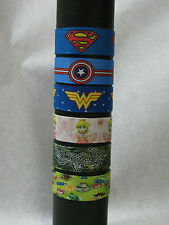 Slap bracelets superman, captain america, wonderwoman, princess peach, toy story