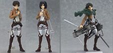 Anime Attack On Titan Eren Jaeger Mikasa Ackerman Action PVC Figure hz1
