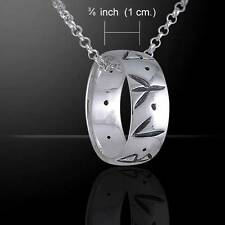 Runic Power Silver Ring and Chain Pendant Set - Runes Ancient Germanic Language