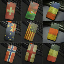 Hot Various National Flag Pattern Matte Hard Case Cover Skin For iPhone4/4S 5/5S