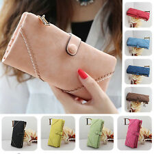 New Fashion Women's Wallets Leather Clutch Button Purses Lady Long Handbag Bags