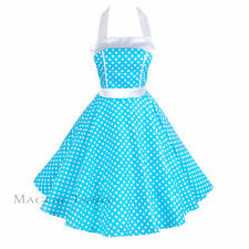 Maggie Tang 50s VTG Pinup Housewife Lace Polka Dots Rockabilly Swing Dress 505