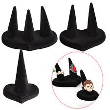 Fashion Black Velvet 1/2/3 Finger Ring Stand Jewelry Holder Display Showcase New