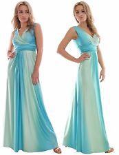 Bridesmaid Summer Party Maxi Dress Turquoise Blue Grecian Style by MontyQ UK