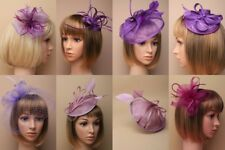 FASCINATOR, PURPLES/LILACS, CHEAPEST ON EBAY, WEDDING, RACES, LOT