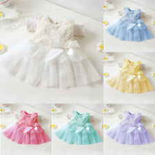 Toddler Baby Kids Girl Princess Party Skirt Tutu Lace Bow Flower Dresses 0-36M