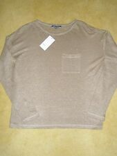 NWT Vince Women's Linen Long Sleeve Shirt Top Tee $95 Multiple Sz