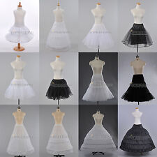 White/Black Retro Petticoat Bridal Slips Rockability TUTU Underskirt Girls Women