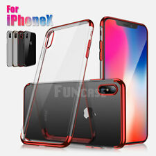 For iPhone 6 6S 4.7 Plus 5.5 Hybrid Soft Clear Back Slim Bumper Case Cover Skin
