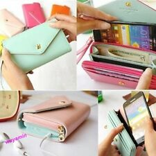 Stylish Multi Propose Envelope Purse Wallet For Galaxy S2,S3,iphone4,4S 8colors