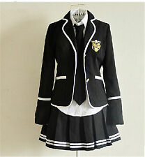 Anime Girls School Student Uniform Sailor Dress British Style Cosplay Kostüm