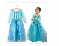 FROZEN PRINCESS ELSA SNOWFLAKE GIRLS COSTUMES COSPLAY DRESS CAPE FOR 2-8años