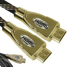 Premium HDMI Gold Cable 1080p HD LCD HDTV lead Video Lead 3D HD TV 1-15 Metre
