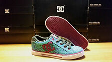 DC Shoes CHELSEA SE DARK SHADOW / WHITE / TURQUOISE Women's Casual Sneakers NiB