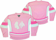 Chicago Blackhawks Girls Pink Jersey NHL Reebok Officially Licensed
