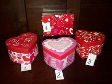 "NEW VALENTINE HEART SHAPED CONTAINER CANDY JEWELRY GIFT BOX 5"" x 3"""