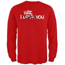 I Hate You Red Adult Long Sleeve T-Shirt