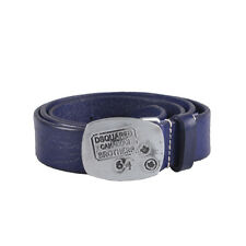 Dsquared2 Men's Blue Leather Buckle Decorated Belt Size S M L XL