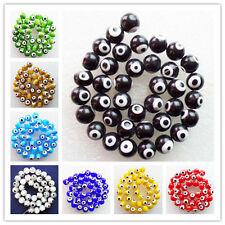 10mm Mixed Color Millefiori Glass Round Ball loose bead 15.5 inch XLZ-263