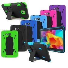 Rugged Silicone Hard PC Box Combo Shockproof for Samsung Galaxy Tablet w/ Stylus